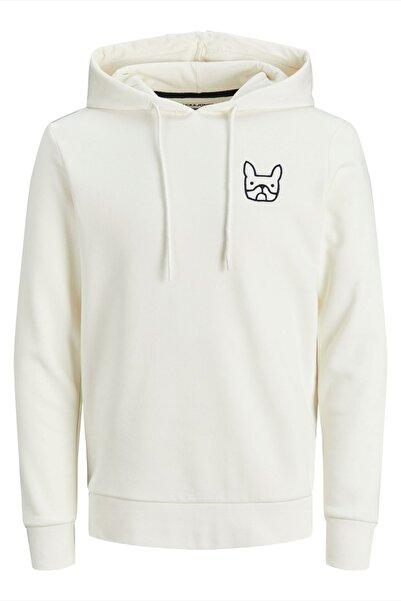 Jack & Jones Erkek Beyaz Fit Sweatshirt - 12195229