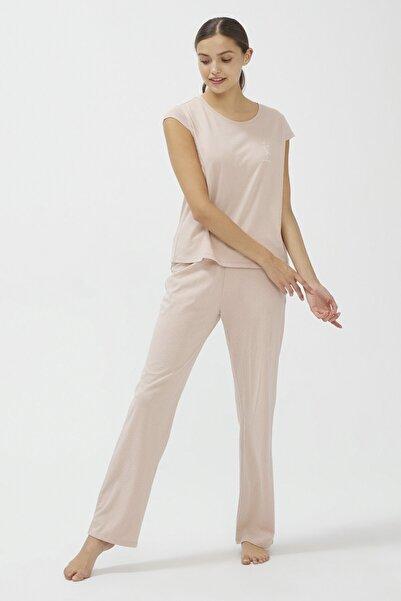 Penti Bej Base Pijama Takımı