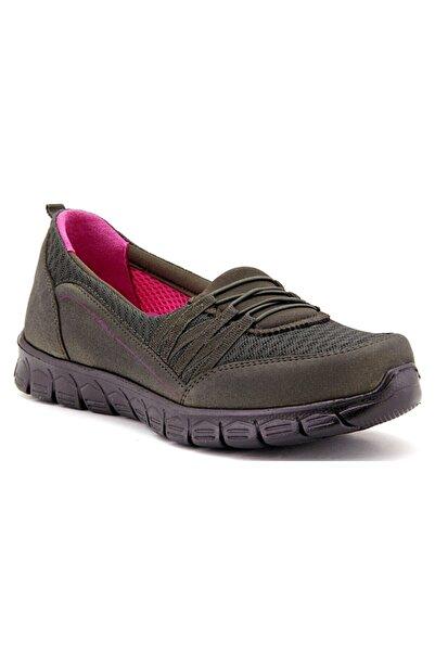Forelli 61014 Faylon Hafif Taban Anatomik Kadın Ayakkabı Haki