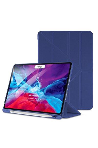 Microsonic Microsonic Ipad Pro 12.9'' 2020 4.nesil Kılıf (A2229-a2069-a2232) Origami Pencil Lacivert