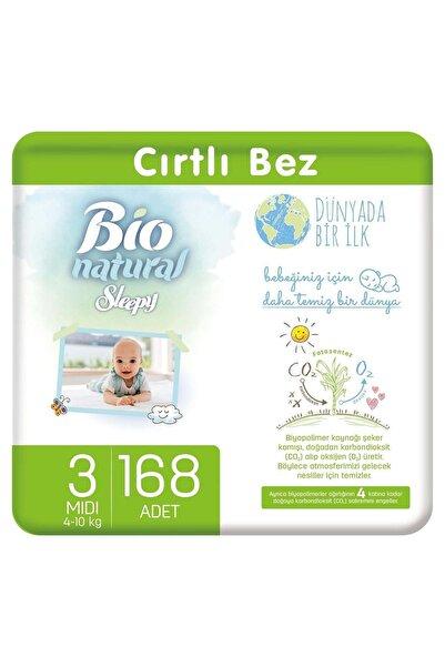 Sleepy Bio Natural Bebek Bezi 3 Numara Midi 168 Adet