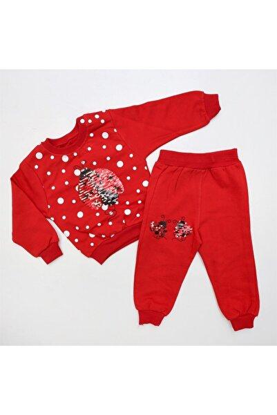 Bella Baby Ugur Böcekli 2'li Lüx Takım Kırmızı