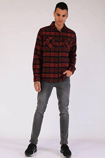 Twister Jeans Erkek Regular Fit Gömlek Eg 1780 Bordo