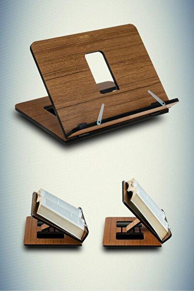 Dekolia Ahşap Kitap Okuma Ve Tablet Standı Kahverengi Art2130