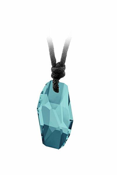 Kutaydan Unisex Turkuaz Swarovski Light Turquoise Meteor İpli Kolye 6673