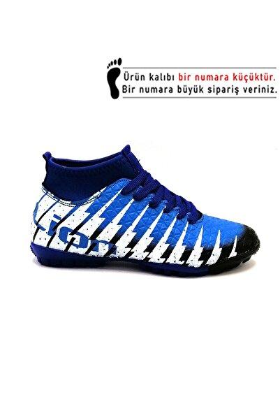 Lion 1453 Siyah Sax Çoraplı Halısaha Futbol Ayakkabısı