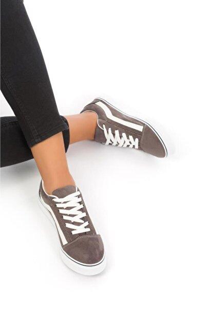 ESPARDİLE Kadın Gri  Süet  Günlük Spor Ayakkabı