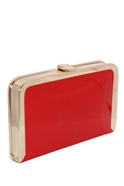 Tablet Kırmızı Rugan Abiye Çanta