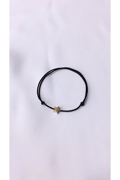 otto bijuteri Siyah Yıldız Figürlü Ip Bileklik