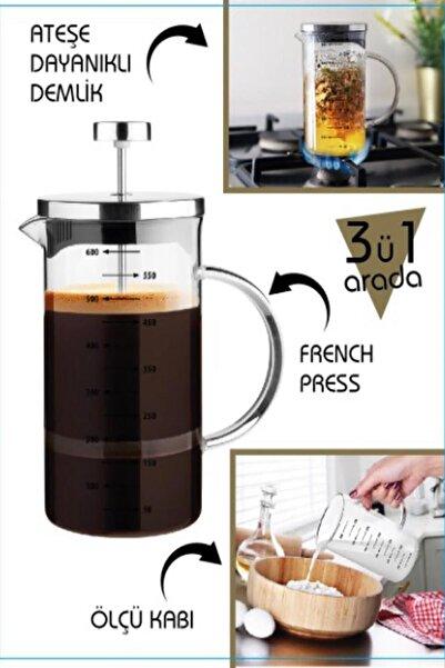 Bayev Borosilikat French Press 600 Ml Ckc8838