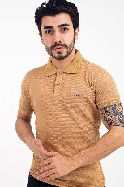 Oksit Vira 556 Slim Fit Petek Desen Polo Yaka Tshirt