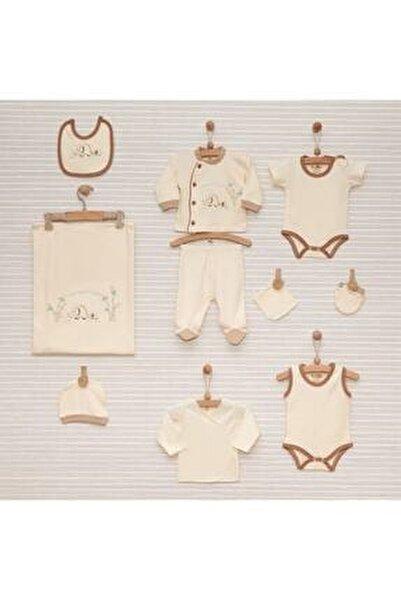 Anne Fil Erkek Bebek %100 Pamuk Organik 10 Parça Hastane Çıkış Seti