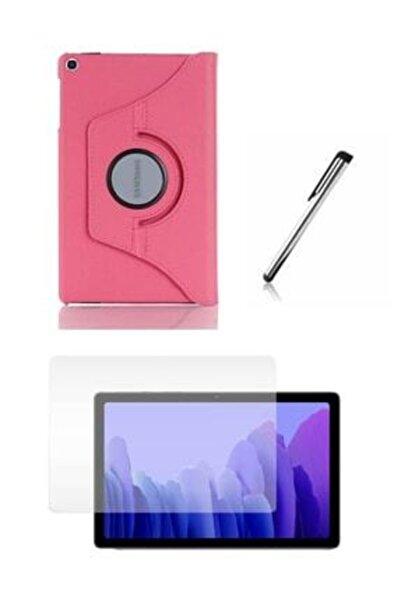 "E TicaShop Pembe Galaxy Tab A7 10.4"" Sm-t500 Sm-t507 Uyumlu Kılıf Set /Kılıf+ Temperli Cam + Kalem"