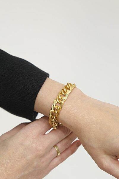 Marjin Kadın Altın Renkli Zincir Bileklik
