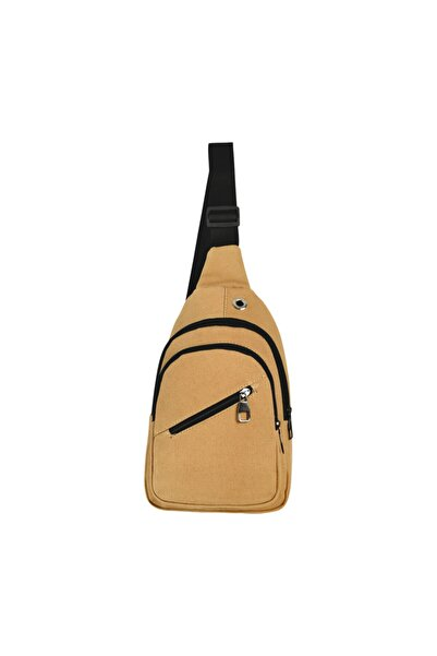 Roxy Kanvas Body Bag Su Geçirmez Kulaklık Çıkışlı Çapraz Çanta 0025