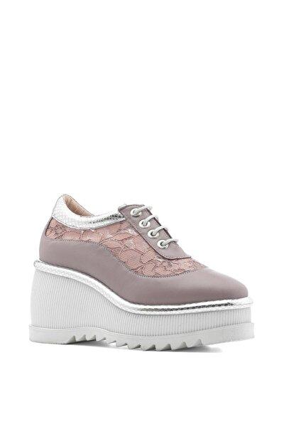 İLVİ Septer Bayan Spor Ayakkabı Pudra Gümüş