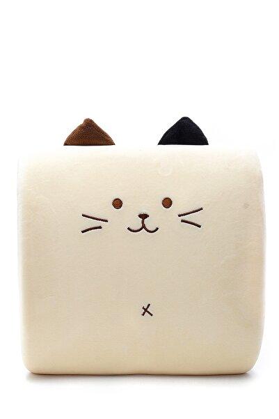 YOYOSO Ecrou Sevimli Kedi Sırt Yastığı Krem