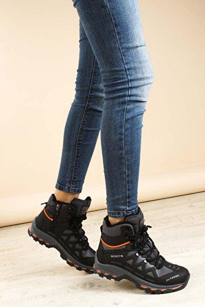 FAST STEP Siyah Füme Oranj Kadın Outdoor Bot 865sza6025