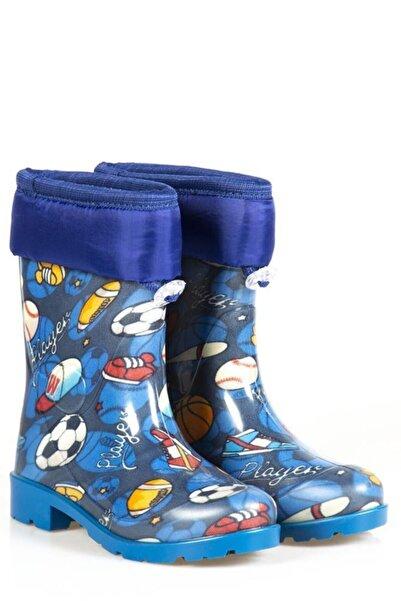Ayakkabı Çarşı Mavi Su Geçirmez Çocuk Çizme Cnrfç202
