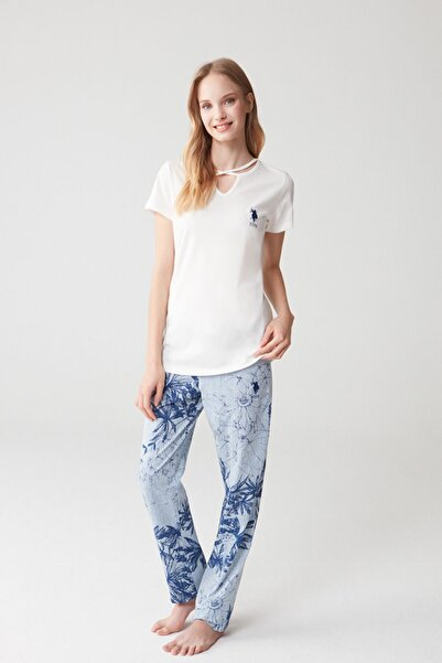 U.S. Polo Assn. 16351 Bayan Kısa Kol Pijama Takım