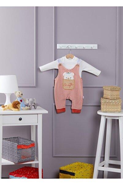 Happy Baby Kırmızı-kadife Erkek Bebek Tulum 3-6-9 Ay
