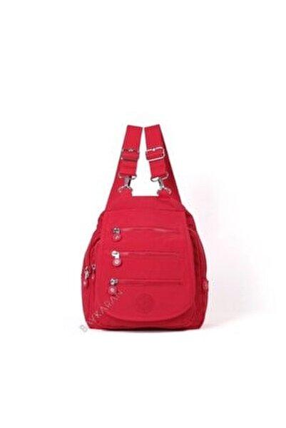 Küçük Boy Kadın Sırt Çantası 1169 19 Kırmızı
