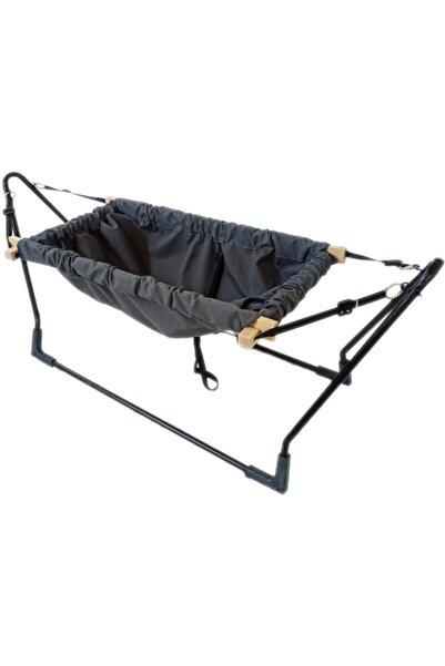 Webburada Gri Portatif Tüllü Bebek Beşiği Hamak Salıncak Bebek Yatağı Park Yatak Anne Yanı