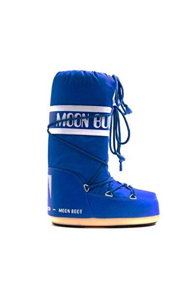 MOON BOOT Erkek Kar Botu 14004400 075 Nylon Electrıc Blue 31-34