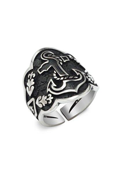 Takıhan Deniz Çapa Model Okçu (Zihgir) Gümüş Yüzük