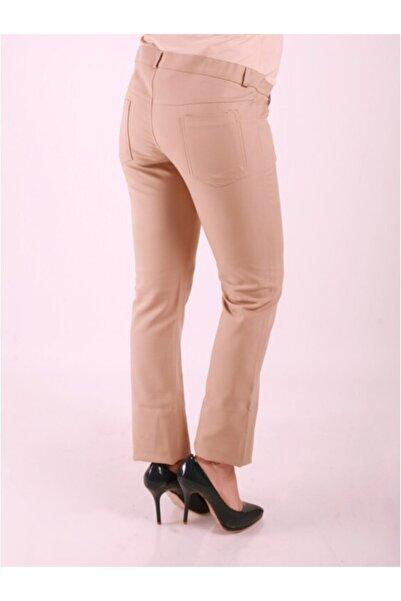 Işşıl Kadın Haki power Streç Boru Paça Pantolon 4388