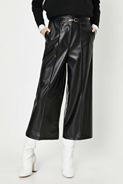 Kadın Siyah Deri Pantolon 0kak43885ek
