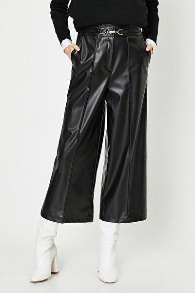 Koton Kadın Siyah Deri Pantolon 0kak43885ek