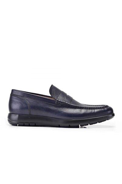 Nevzat Onay Hakiki Deri Lacivert Günlük Loafer Erkek Ayakkabı -10916-