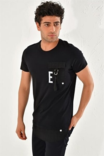 Atş 016 Slim Fit Siyah Spor T-shirt