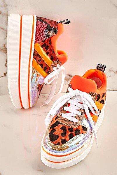 Bambi Turuncu Kadın Sneaker