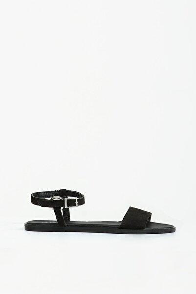 Collezione Siyah Bilekten Kemerli Açık Kadın Ayakkabı