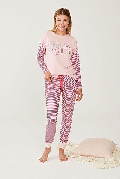 U.S. Polo Assn. Yuvarlak Yaka Bayan Pijama Takım 16255