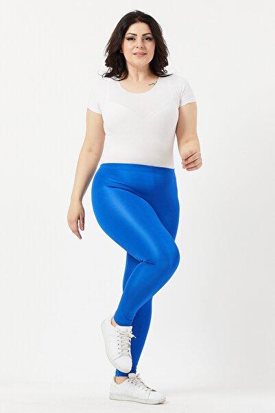Ebsumu Büyük Beden Toparlayıcı Sax Mavi Disco Tayt