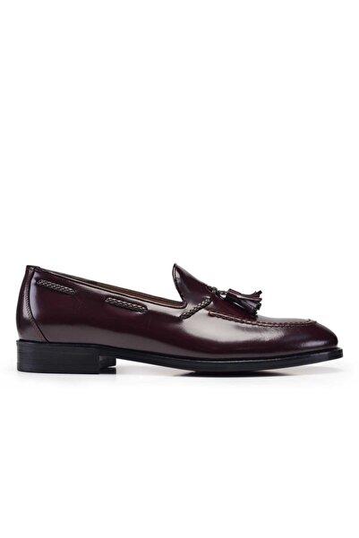 Nevzat Onay Hakiki Deri Bordo Klasik Loafer Kösele Erkek Ayakkabı -11135-