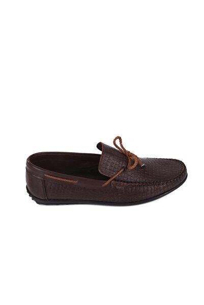 Hobby Kahve Deri Erkek Günlük Ayakkabı 5003