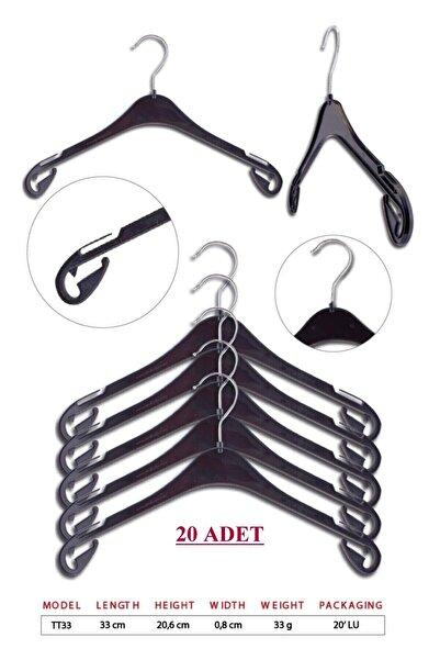 TENA MODA Unisex Siyah Çocuk Kıyafet Elbise Askısı 20 Adet