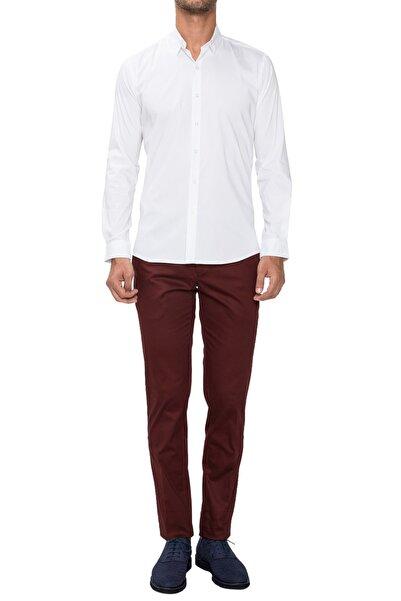 Efor P 1021 Slim Fit Bordo Spor Pantolon
