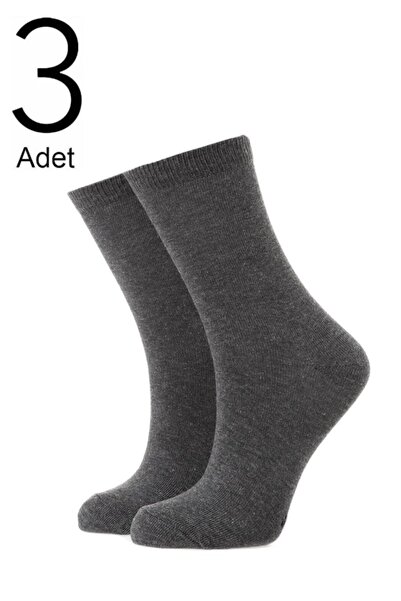 ORBİS 3'lü Kadın Düz Çorap 3450-a3