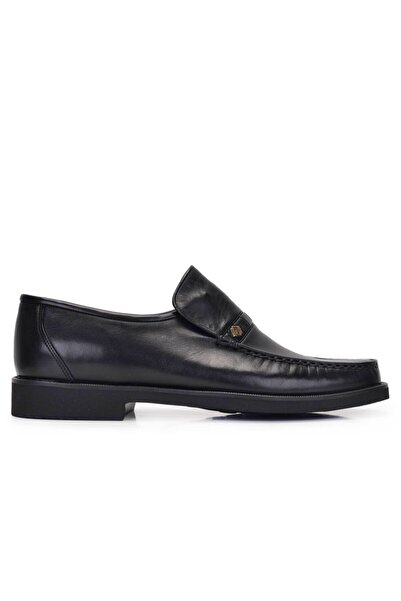 Nevzat Onay Hakiki Deri Siyah Günlük Loafer Erkek Ayakkabı -11279-