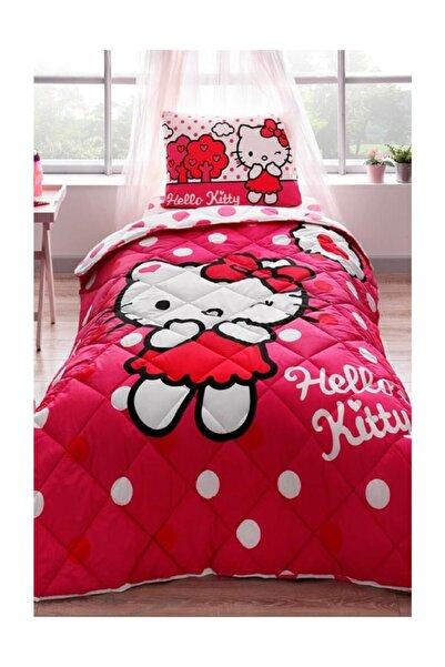Taç Lisanslı Tek Kişilik Yorgan Seti - Hello Kitty