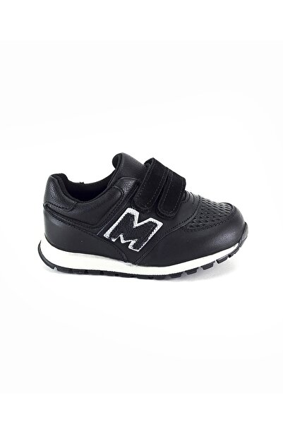 Minipicco Erkek Çocuk Siyah Deri Ortopedik Ayakkabı