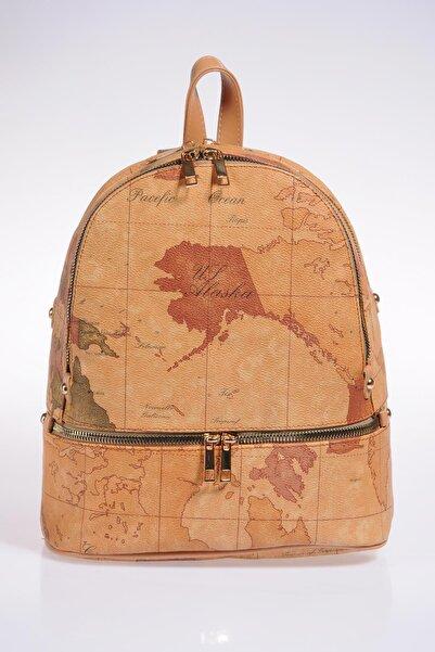 Sergio Giorgianni Luxury Sg1584 Brown Map Kadın Sırt Çantası