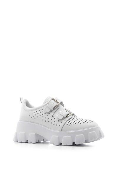 İLVİ Rada Bayan Spor Ayakkabı Beyaz Deri