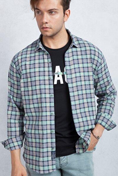 Twister Jeans Yeşil Kareli Erkek Gömlek