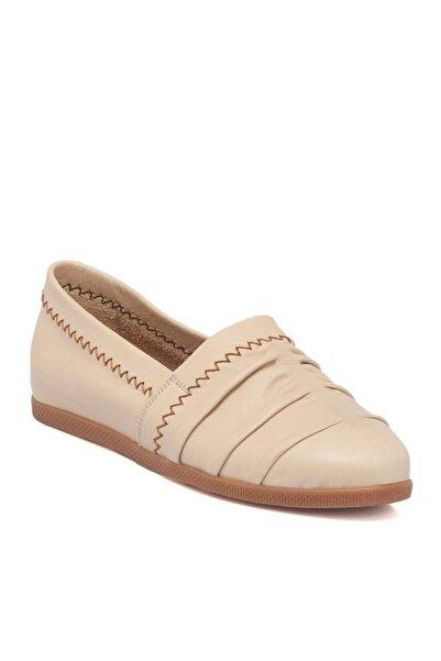 Tergan Bej Deri Kadın Ayakkabı 64393a25
